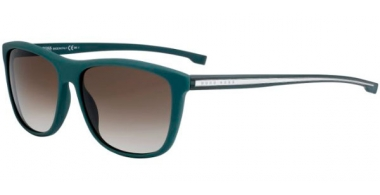 Sunglasses - BOSS Hugo Boss - BOSS 0874/S - 0I7 (HA) MATTE GREEN CRYSTAL // BROWN GRADIENT
