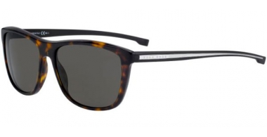 Sunglasses - BOSS Hugo Boss - BOSS 0874/S - P0I (NR) DARK HAVANA CRYSTAL // BROWN GREY