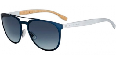 Sunglasses - BOSS Hugo Boss - BOSS 0882/S - 0S4 (HD) METAL BLUE METAL PALLADIUM // GREY GRADIENT