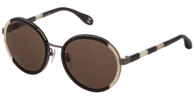 Lunettes de soleil - Carolina Herrera New York - SHN050M - 06K5  BLACK BEIGE // BROWN