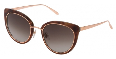 Lunettes de soleil - Carolina Herrera New York - SHN594M - 0J21  DARK HAVANA // BROWN GRADIENT