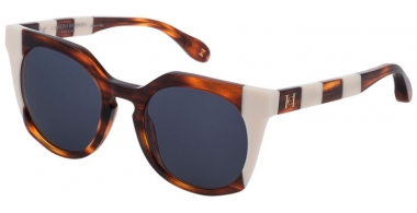 Sunglasses - Carolina Herrera New York - SHN595 - 0782  SHINY HAVANA WHITE // BLUE