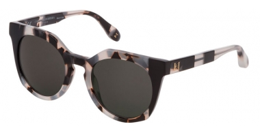 Sunglasses - Carolina Herrera New York - SHN595 - 09BB  HAVANA WHITE BLACK // GREY