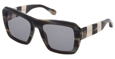 Gafas de Sol - Carolina Herrera New York - SHN598 - 01CQ  SHINY STRIPED GREY HORN // GREY