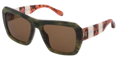Gafas de Sol - Carolina Herrera New York - SHN598 - 01FJ  SHINY STRIPED GREEN // BROWN