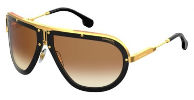 Sunglasses - Carrera - CA AMERICANA - 2M2 (86)  BLACK GOLD // BLACK BROWN GREEN GRADIENT ANTIREFLECTION
