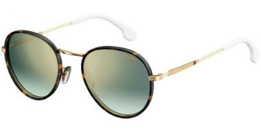 Sunglasses - Carrera - CARRERA 151/S - 24S (EZ)  HAVANA GOLD WHITE // GREEN GRADIENT MIRROR