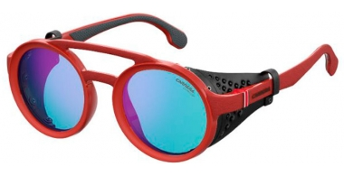 Sunglasses - Carrera - CARRERA 5046/S - 0Z3 (2Y)  MATTE RED // BLUE MIRROR