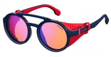 Sunglasses - Carrera - CARRERA 5046/S - FLL (DP)  MATTE BLUE // ORANGE MULTILAYER