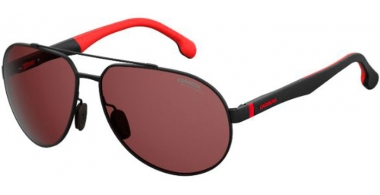 Gafas de Sol - Carrera - CARRERA 8025/S - 003 (W6)  MATTE BLACK // BURGUNDY POLARIZED ANTIREFLECTION