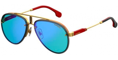 Sunglasses - Carrera - CARRERA GLORY - LKS (2Y)  GOLD BLUE // BLUE MIRROR