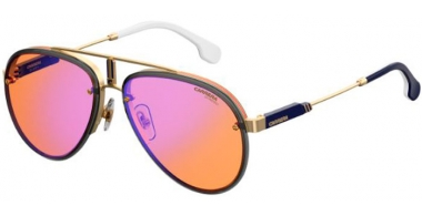 Sunglasses - Carrera - CARRERA GLORY - OFY (DP)  GOLD ORANGE // ORANGE MULTILAYER BLUE MIRROR