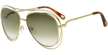 Sunglasses - Chloé - CE134S CARLINA - 792 GOLD HAVANA // GREEN GRADIENT