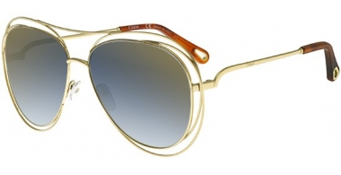 Sunglasses - Chloé - CE134S CARLINA - 793 GOLD HAVANA // BLUE GRADIENT FLASH