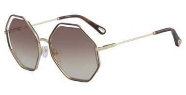 Sunglasses - Chloé - CE132S POPPY - 205 HAVANA GOLD // BRONZE GRADIENT