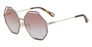Sunglasses - Chloé - CE132S POPPY - 211 HAVANA GOLD // PEACH GRADIENT