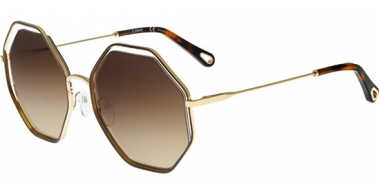 Sunglasses - Chloé - CE132S POPPY - 213 HAVANA GOLD // BROWN GRADIENT