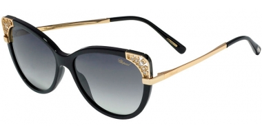 Sunglasses - Chopard - SCH233R - 0700  SHINY BLACK // GREY GRADIENT ANTIREFLECTION