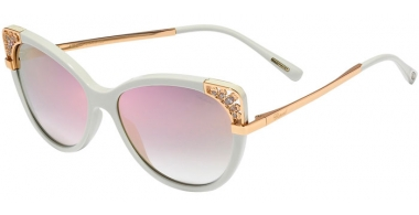 Sunglasses - Chopard - SCH233R - ACGG  SHINY WHITE ICE // BLUE GRADIENT GOLD MIRROR ANTIREFLECTION