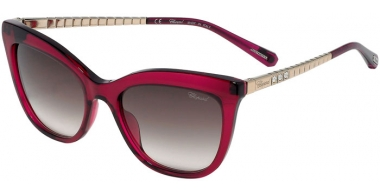 Sunglasses - Chopard - SCH260S - 01BV  SHINY TRANSPARENT CYCLAMEN // BROWN GRADIENT PINK ANTIREFLECTION