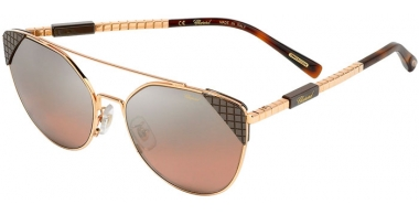 Sunglasses - Chopard - SCHC40 - 8FCX  SHINY COPPER GOLD // PINK GRADIENT SILVER MIRROR