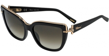Sunglasses - Chopard - SCHC80S - 0700  SHINY BLACK // BROWN GRADIENT ANTIREFLECTION