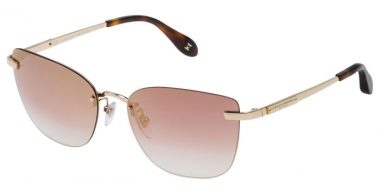 Sunglasses - Carolina Herrera New York - SHN039M - 300Y SHINY ROSE GOLD // PINK GRADIENT MULTILAYER ROSE