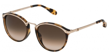 Sunglasses - Carolina Herrera New York - SHN041M - 0300 SHINY ROSE GOLD HAVANA // BROWN GRADIENT