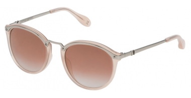 Sunglasses - Carolina Herrera New York - SHN041M - 0579 SHINY PALLADIUM ROSE // PINK GRADIENT MULTILAYER ROSE