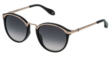 Sunglasses - Carolina Herrera New York - SHN041M - 0A39 SHINY RED GOLD BLACK // GREY GRADIENT