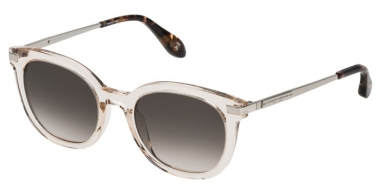 Sunglasses - Carolina Herrera New York - SHN570M - 0760 SHINY TRANSPARENT HONEY // GREEN GRADIENT POWDER