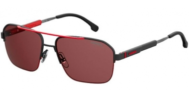 Sunglasses - Carrera - CARRERA 8028/S - 003 (W6)  MATTE BLACK // BURGUNDY ANTIREFLECTION POLARIZED