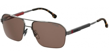 Sunglasses - Carrera - CARRERA 8028/S - R80 (70)  STEEL METAL RUTHENIUM // BROWN