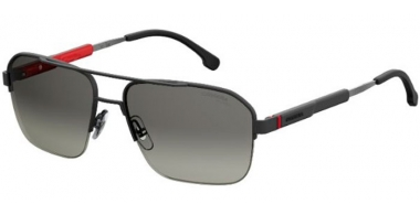 Sunglasses - Carrera - CARRERA 8028/S - SUB (WJ)  BLACK METAL BLACK // GREY GRADIENT POLARIZED