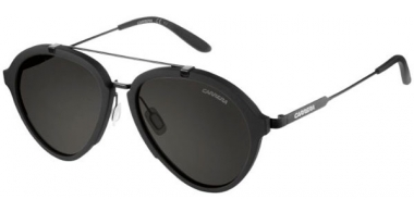 Gafas de Sol - Carrera - CARRERA 125/S - GTN (IR) MATTE BLACK SHINY BLACK // GREY BLUE