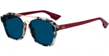 Gafas de Sol - Dior - DIORABSTRACT - 1QX (A9) GREY HAVANA BURGUNDY // BLUE GREY ANTIREFLECTION