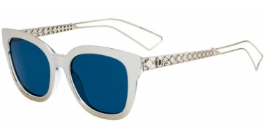 Sunglasses - Dior - DIORAMA1 - SBG  (KU) LIGHT GOLD CRYSTAL // BLUE GREY