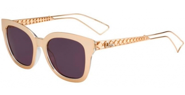 Sunglasses - Dior - DIORAMA1 - SBH  (C6) RED GOLD CRYSTAL // DARK PURPLE