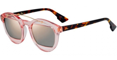 Sunglasses - Dior - DIORMANIA1 - N71 (0J) HAVANA ROSE BROWN // GREY ROSE GOLD MIRROR