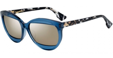 Sunglasses - Dior - DIORMANIA2 - 889 (UE) SOFT BLUE GREEN HAVANA // GREY IVORY MIRROR