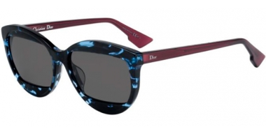 Sunglasses - Dior - DIORMANIA2 - HK3 (IR) HAVANA SHINY BLUE CHERRY // GREY BLUE