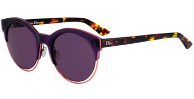 Sunglasses - Dior - DIORSIDERAL1 - 1W3 (C6) VIOLET YELLOW HAVANA // DARK PURPPLE