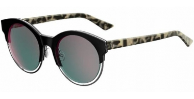 Sunglasses - Dior - DIORSIDERAL1 - XV5 (0J) BLACK RUTHENIUM HAVANA // GREY ROSE GOLD MIRROR