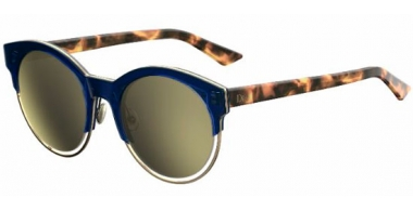 Sunglasses - Dior - DIORSIDERAL1 - XW7 (K1) BLUE HAVANA // BROWN GOLD MIRROR