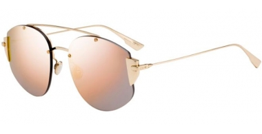 Sunglasses - Dior - DIORSTRONGER - J5G (0J)  GOLD // GREY ROSE GOLD MIRROR