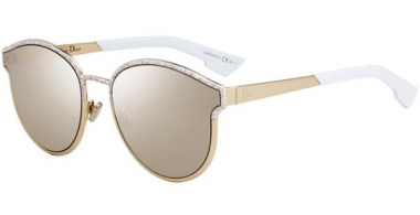 Gafas de Sol - Dior - DIORSYMMETRIC - GBZ (QV) WHITE MARBLE GOLD // IVORY MULTILAYER ANTIREFLECTION