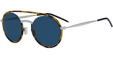 Sunglasses - Dior Homme - DIORSYNTHESIS01 - EPZ (A9) YELLOW RED HAVANA // BLUE GREY ANTIREFLECTION