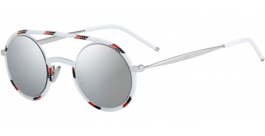 Sunglasses - Dior Homme - DIORSYNTHESIS01 - T2G (0T) WHITE RED SPOTTED // GREY SILVER ANTIREFLECTION
