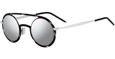 Sunglasses - Dior Homme - DIORSYNTHESIS01 - TAY (0T) BLACK SPOTTED RED WHITE // GREY SILVER ANTIREFLECTION