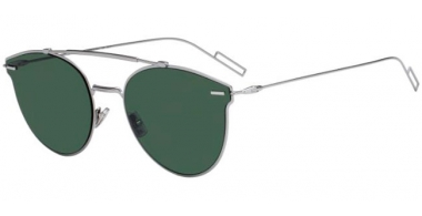 Sunglasses - Dior Homme - DIORPRESSURE - 6LB (O7) RUTHENIUM // GREEN LIGHT GREEN ANTIREFLECTION